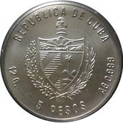 5 Pesos (Cuban Trogon) -  avers