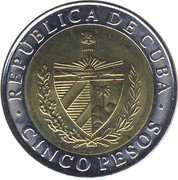 5 pesos (Antonio Maceo) -  avers