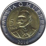 5 pesos (Antonio Maceo) -  revers