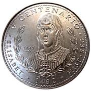 1 peso (Reine Isabella) -  avers