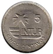 5 centavos (INTUR) – revers