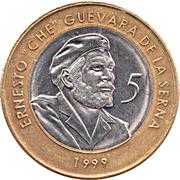 5 pesos (Ernesto Che Guevara) – revers