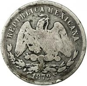 25 Centavos (Countermarked) -  revers
