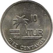 10 centavos (INTUR, petit 10) – revers