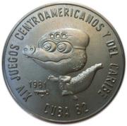 1 peso (XIV jeux des caraibes et du centre Amérique) -  avers