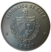 1 peso (Solenodon) -  avers