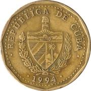 1 peso (Jose Marti) -  avers