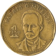 1 peso (Jose Marti) -  revers