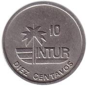 10 centavos (INTUR - cupronickel) – revers