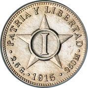 1 centavo (1re République) -  revers