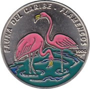 1 Peso (Flamands roses) -  avers