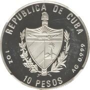 10 pesos (La Giralda à Séville) -  avers