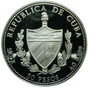 50 pesos (Raie léopard) -  avers