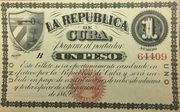 1 Peso (1869 Issue La Republica de Cuba) – avers