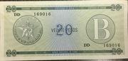 "20 Pesos ""B"" (Foreign Exchange Certificates) -  avers"