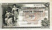 5 Pesos – avers