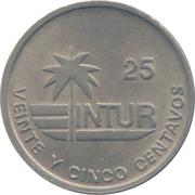 25 centavos (INTUR) – revers