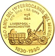 100 Pesos (First Railroad in England) -  avers