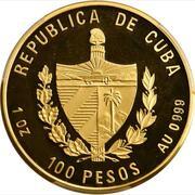 100 Pesos(25th. Anniversary of Heroic Guerilla Fighter) -  avers