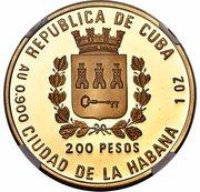 200 Pesos (Apatosaurus) – avers
