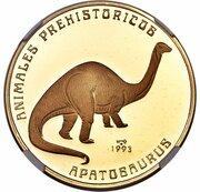 200 Pesos (Apatosaurus) – revers