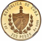200 Pesos (Chalicotherium) – avers