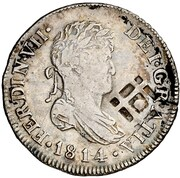 2 Reales (Countermarked) – avers