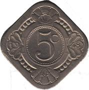 5 cents - Wilhelmina -  revers