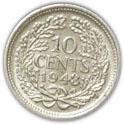10 cents - Wilhelmina -  revers