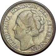 Curaçao 25 cents - Wilhelmina – avers