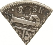 3 Reaal, 18 Stuiver (British Occupation - Countermarked 3 dentilated) – avers
