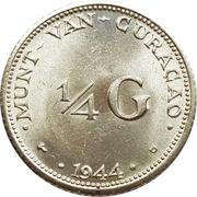 ¼ gulden - Wilhelmina -  revers