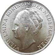 1 gulden - Wilhelmina – avers