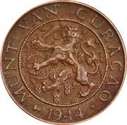 1 cent - Wilhemina – avers