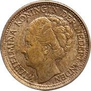 1/10 gulden - Wilhelmina -  avers