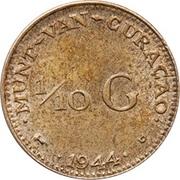 1/10 gulden - Wilhelmina -  revers