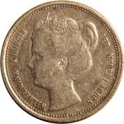 1/10 gulden - Wilhelmina – avers