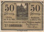 50 Pfennig (Cuxhaven) – avers
