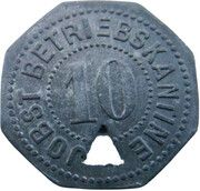 10 Pfennig - Dachau (Jobst Betriebskantine) – avers