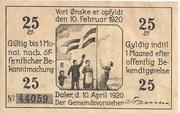 25 Pfennig (Daler) – avers