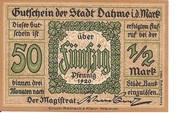 50 Pfennig (Dahme) – avers