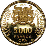 5000 francs (Anniversaire de l'indépendance) – avers