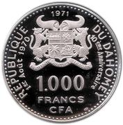 1000 francs CFA (Anniversaire de l'indépendance) – avers