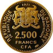 2500 francs CFA (Anniversaire de l'indépendance) – avers