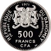 500 francs CFA (Anniversaire de l'indépendance) – avers