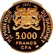 5000 francs CFA (Anniversaire de l'indépendance) – avers
