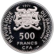 500 francs (Anniversaire de l'indépendance) – avers