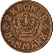 2 kroner Christian X -  revers