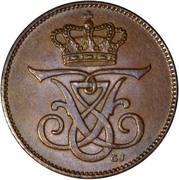 2 øre - Frédéric VIII – avers