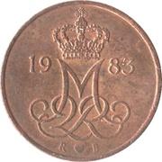5 øre - Margrethe II -  avers